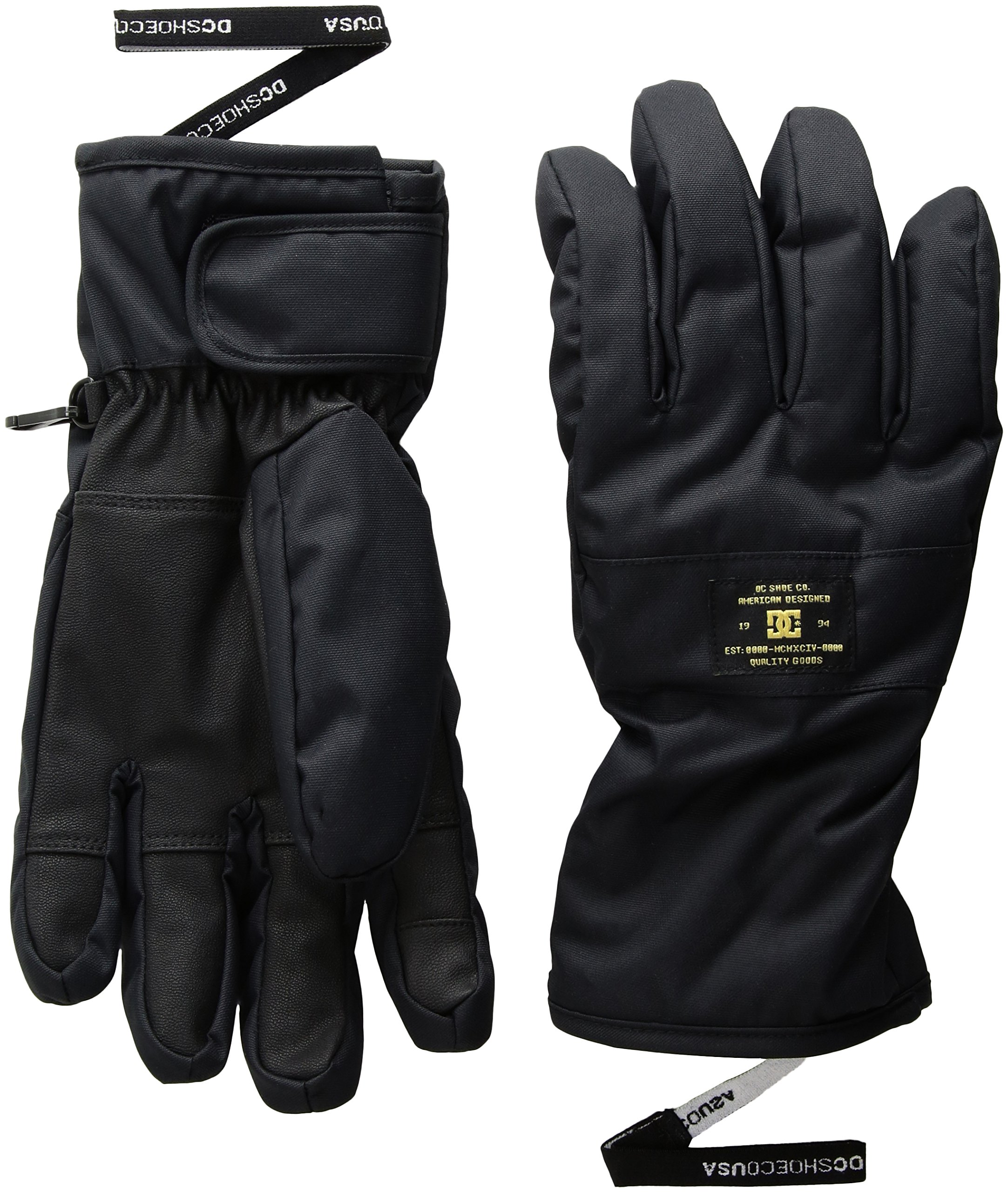 DC Men's Franchise Snow Gloves, Black, S