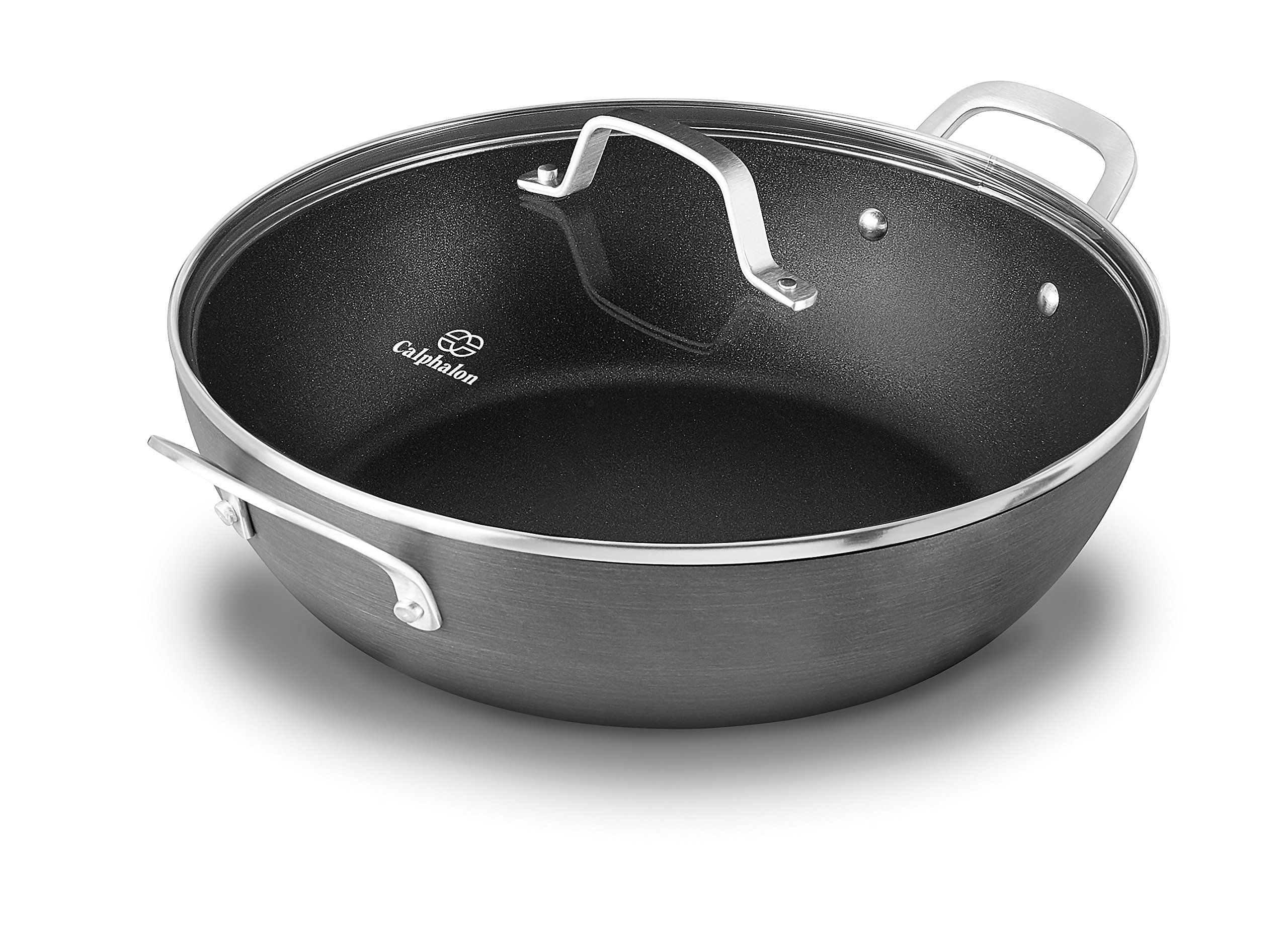 Calphalon 1932442 Classic Nonstick All Purpose Pan with Cover, 12-Inch, Grey by Calphalon