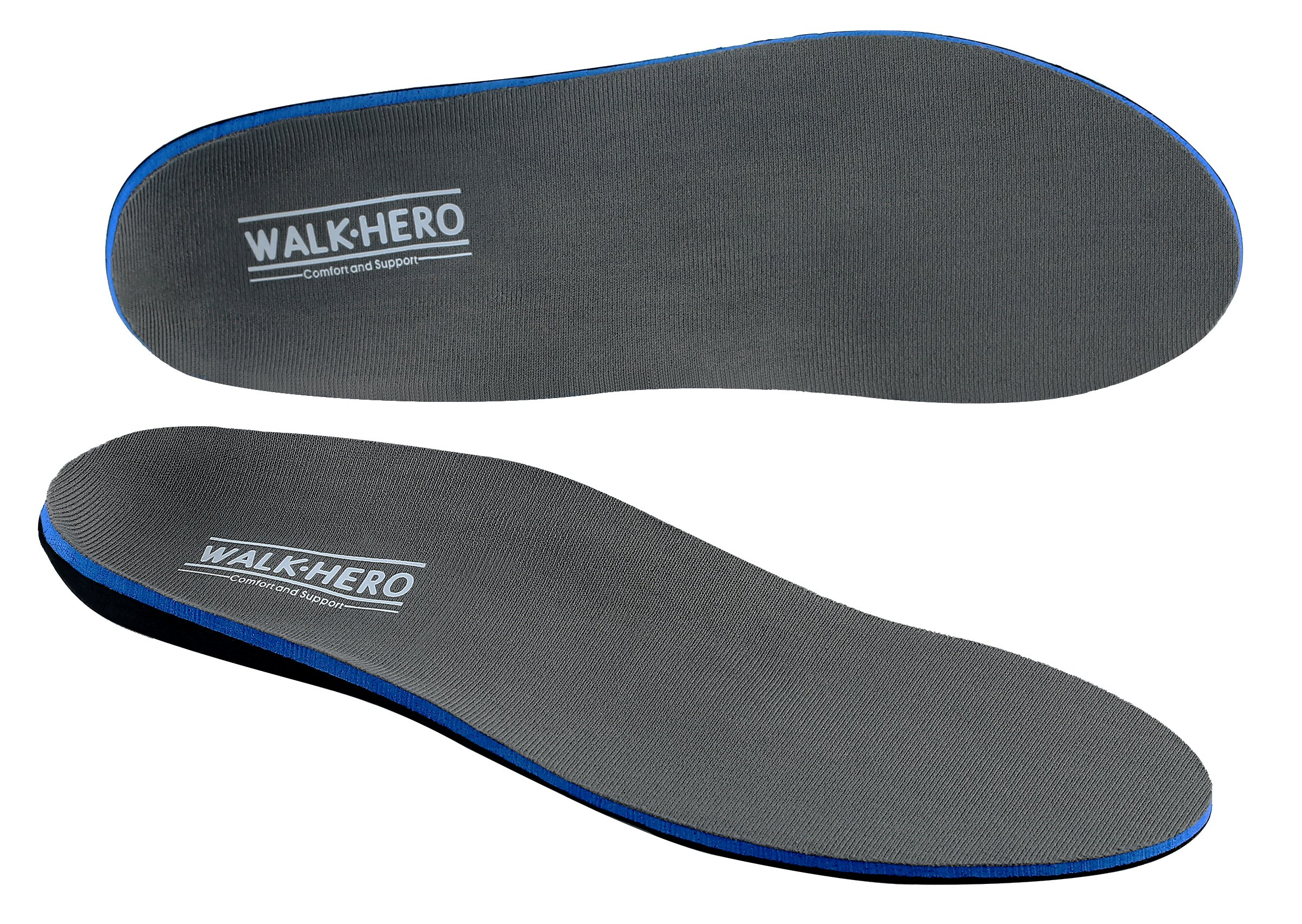 Orthotics For Flat Feet by WalkHero Men Shoe Inserts Arch Support Insoles Fight Against Plantar Fasciitis, Relieve Feet Pain, Heel Pain,Shin Splint and Pronation, For Boys Girls Mens 8-8 1/2 | Wome