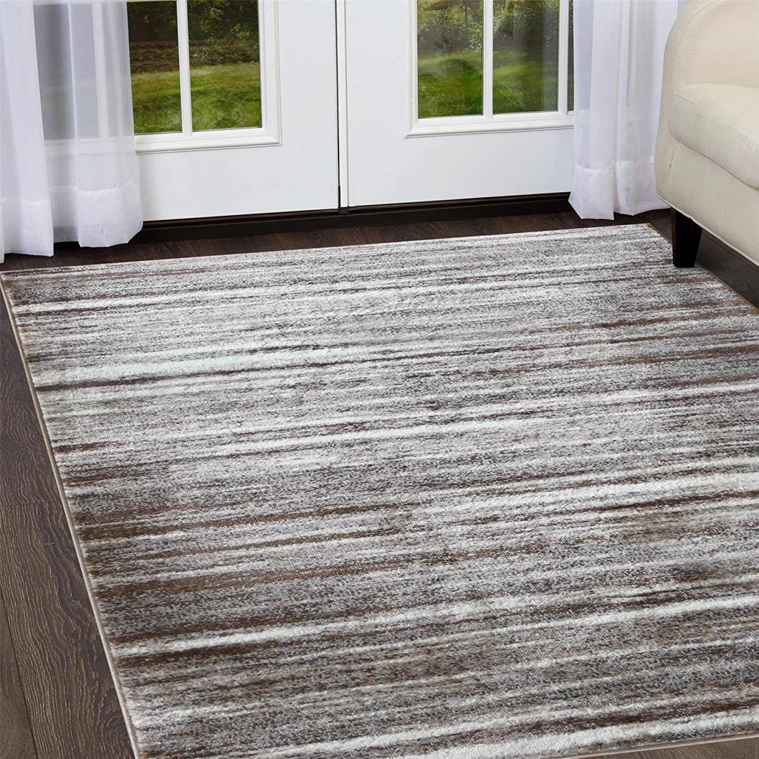 A2z Rug Contemporary Brown Palma 1495 Area Rugs 120x170 Cm 3 9 X5 6 Ft Amazon Co Uk Kitchen Home