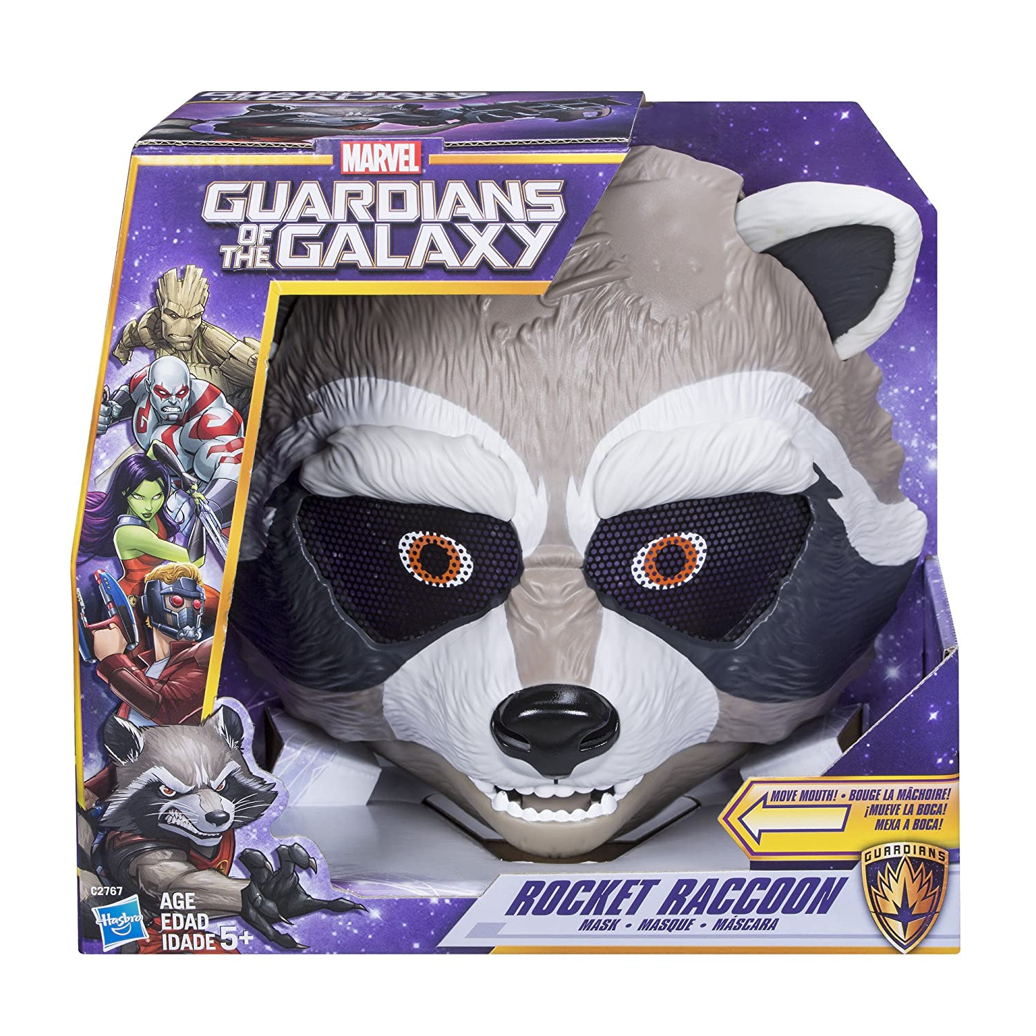 Amazon.com: Marvel Guardians The Galaxy Rocket Raccoon Mask: Toys & Games