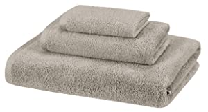 AmazonBasics 3 Piece Cotton Quick-Dry Bath Towel Set - Platinum