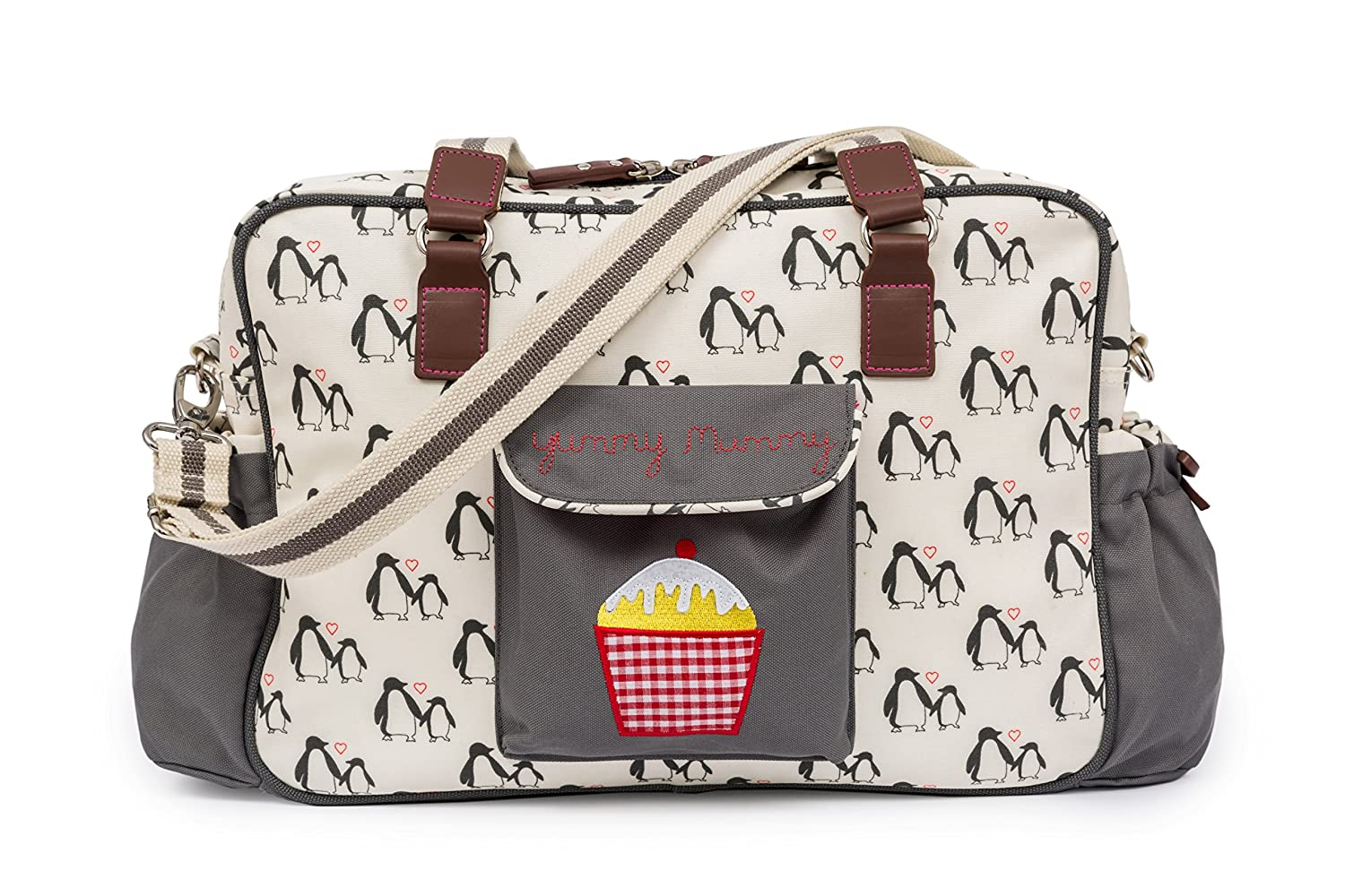Pink Lining Yummy Mummy Baby Changing Nappy Bag - Penguin Love