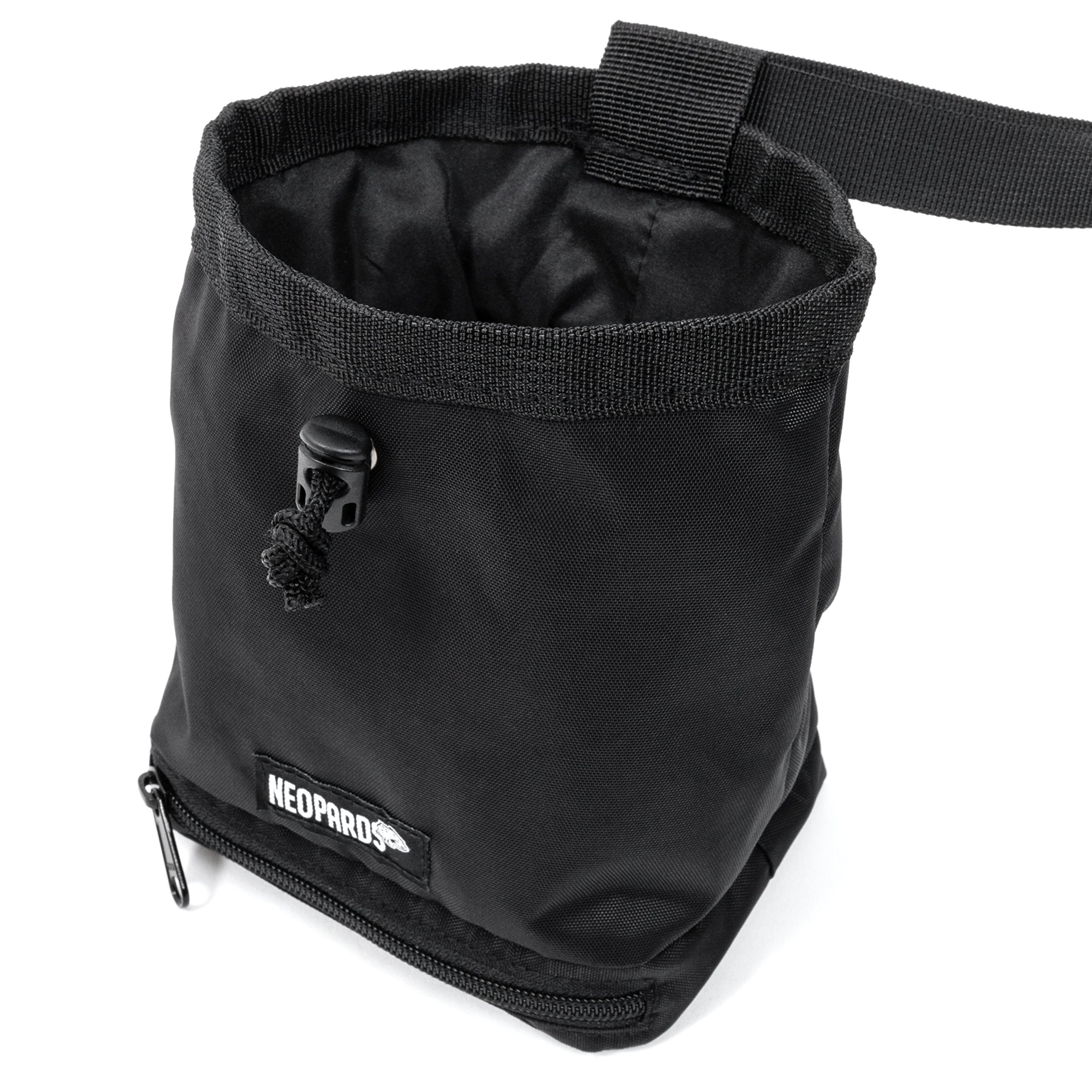 Neopards Drawstring Chalk Bag   Highend Rock Climbing Chalk Bag for Bouldering, Weightlifting, Gymnastics   Chalk Pouch with Waist Belt and Zippered Bottom Pocket To Securely Hold iPhone and Valuables