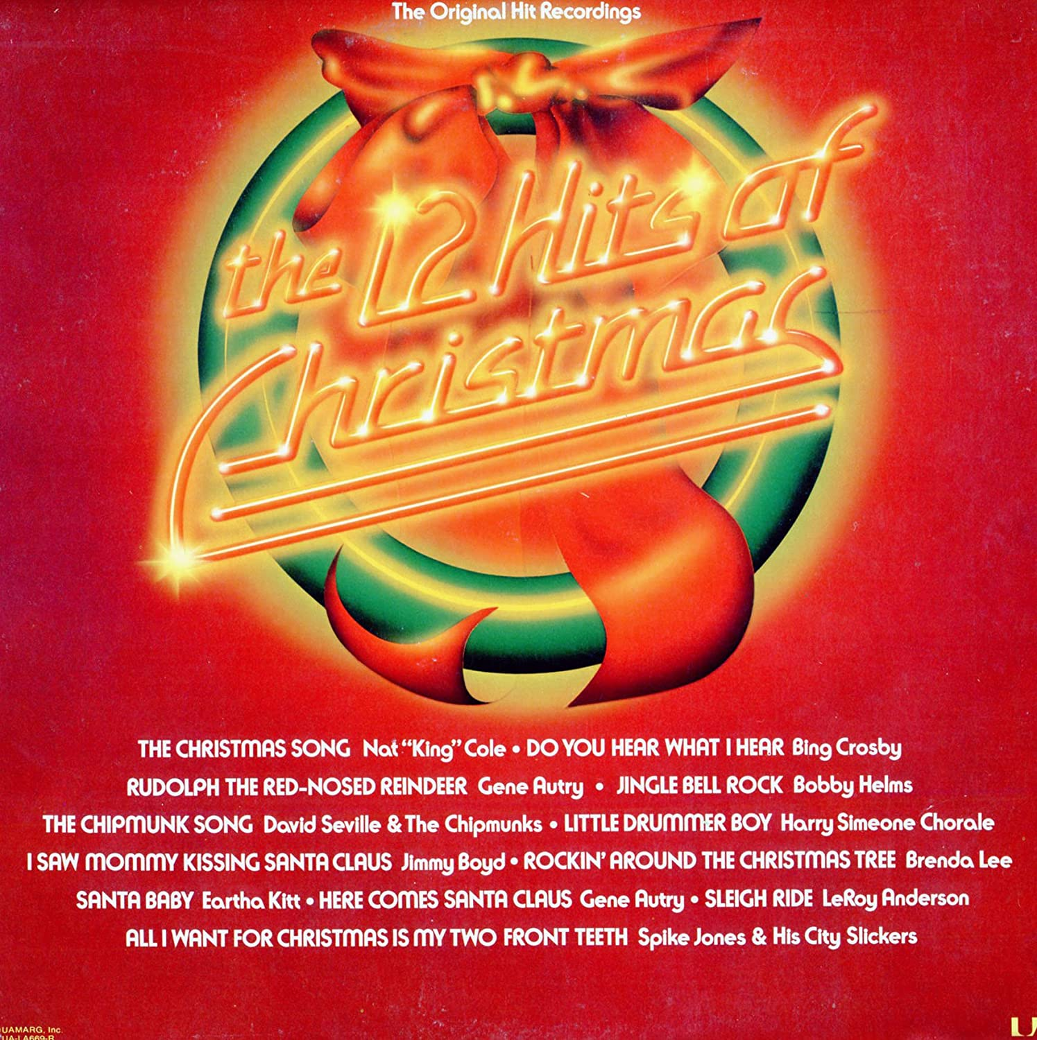 The 12 Hits Of Christmas Vinyl Lp Compilation