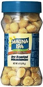Mauna Loa Macadamias, Dry Roasted Macadamias, 6 Ounce Jars