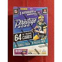2020 NFL Prestige Football Trading Card Blaster Box 1 Auto or Memorabilia Card per Box!
