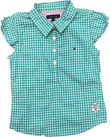 Tommy Hilfiger - Camisa Verde DE Cuadros (6-9 Meses): Amazon ...