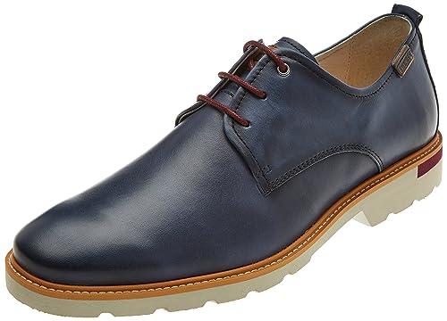 Salou M9j, Zapatos de Cordones Derby para Hombre, Marrón (Cuero), 44 EU Pikolinos