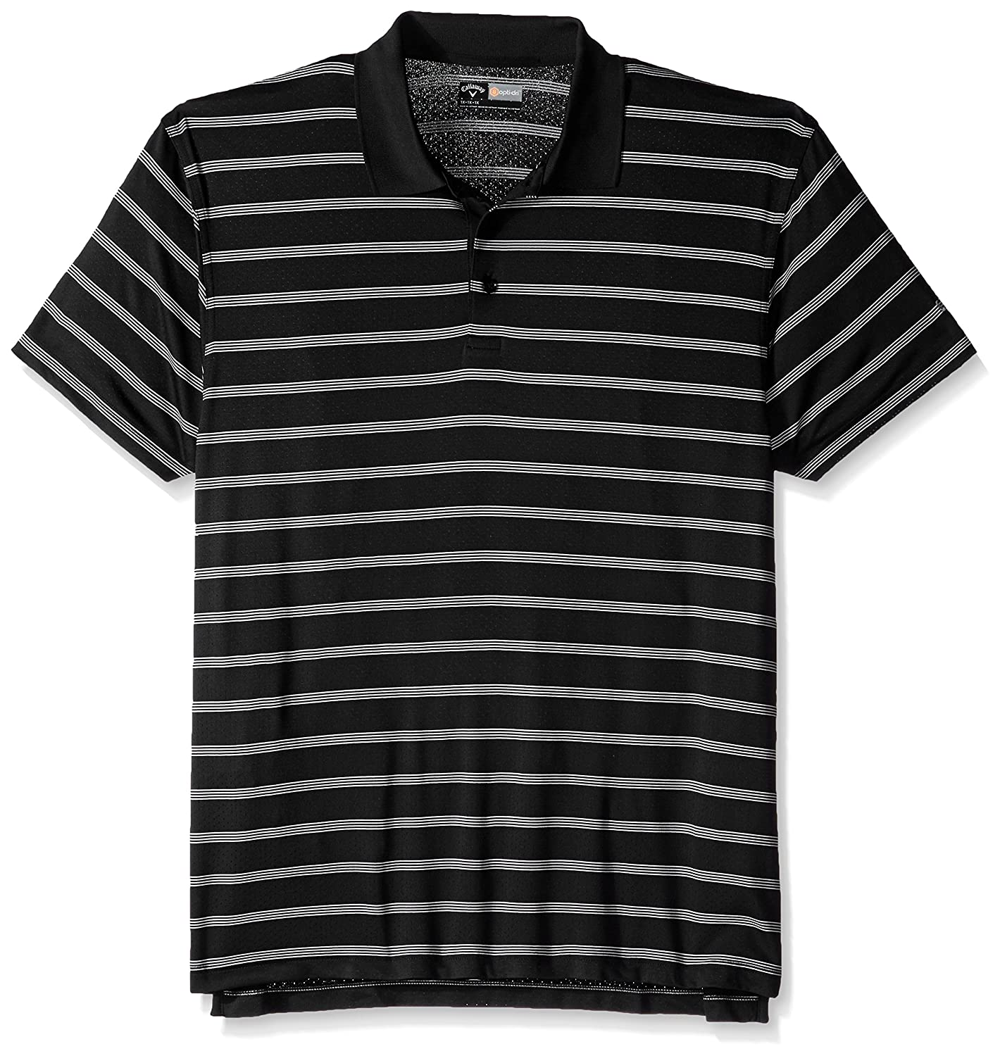 Callaway Herren Big & Tall Golf Performance Stripe Short Sleeve Polo Shirt