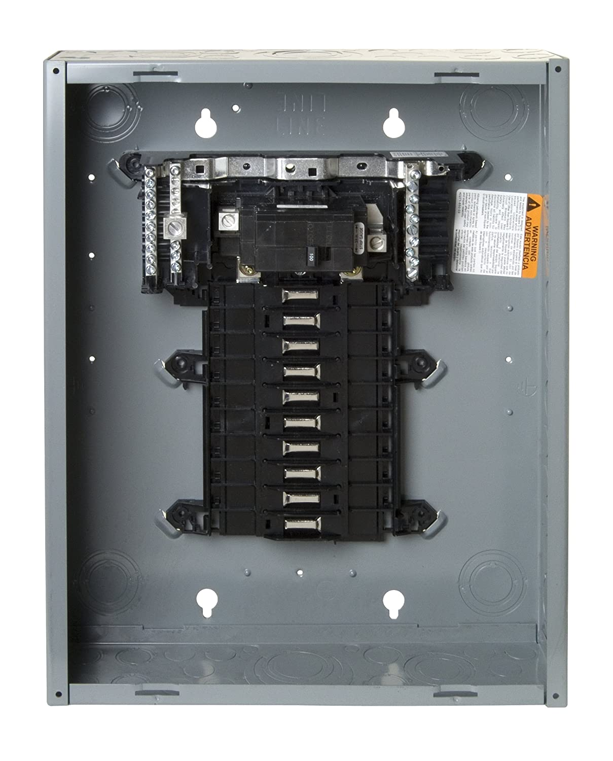 Square D By Schneider Electric Qo120m100c Qo 100 Amp 20 Space Shop Eaton 20circuit 10space 100amp Main Breaker Load Center Value Circuit Indoor With Cover Breakers