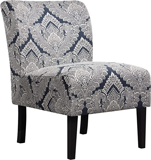 Amazon Com Yaheetech Accent Chair Armless Sofa Side Chairs Single Sofa Deco Living Room Bedroom Office Chair Sapphire Furniture Decor