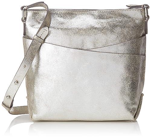 d6e1aa45c Clarks Topsham Charm, Women's Cross-Body Bag, Silver (Silver Leather ...
