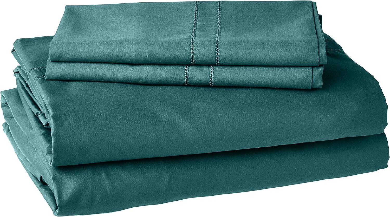 Pointehaven 620TC Long Staple Green Cotton Bed Sheet