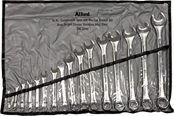 SAE Metric Combination Wrench Set 24 Piece Wrenches Kit Hand Tool Open Box End 1