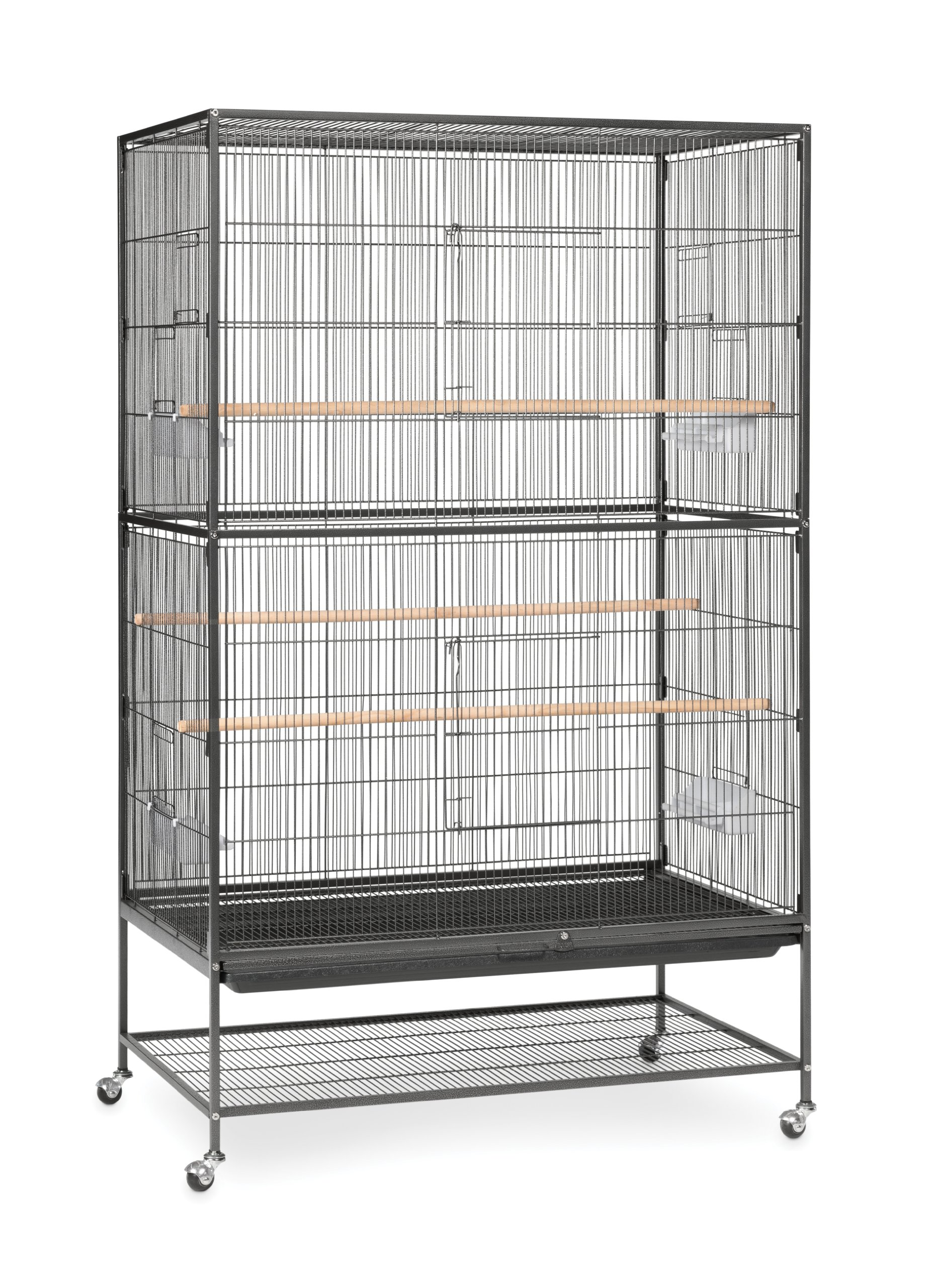 Prevue Hendryx F050 Pet Products Wrought Iron Flight Cage, X-Large, Hammertone Black by Prevue Hendryx