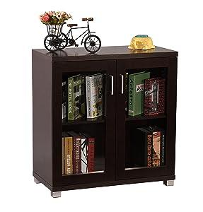 DeckUp Wood Matte Finish Uniti Book Shelf/Display and Storage Unit (Dark Wenge)