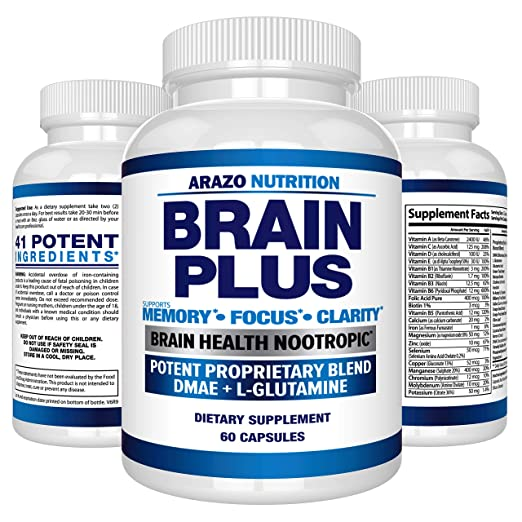 Premium Brain Function Supplement – Memory, Focus, Clarity – Nootropic  Booster with DMAE,