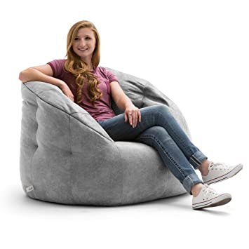 Awe Inspiring Big Joe Lux 0658403 Multicolor Cement Large Milano In Blazer Bean Bag Ibusinesslaw Wood Chair Design Ideas Ibusinesslaworg