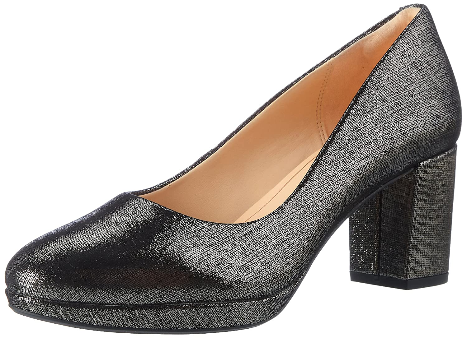 Clarks Damen Kelda Hope Pumps39 EU|Beige (Pewter Metallic)