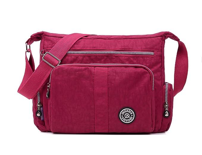 GuiShi(TM) Lightweight Waterproof Nylon Handbag Crossbody Messenger Bag  Shoulder Bag with Multi- 8f7545f659fdd