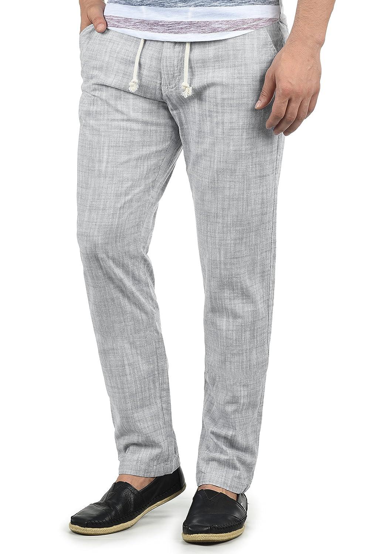 TALLA L. Blend Bonavo Pantalón De Lino Largo De 100% algodón Regular-Fit