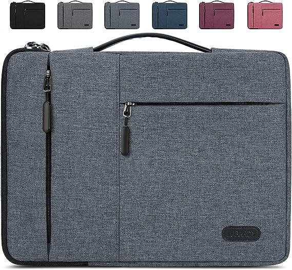 TALLA 15-15.6 inch. Lubardy Funda Portátil Compatible 15-15.6 Pulgadas Laptop Impermeable Maletín para Funda Ordenador Portátil Protectora Prueba Golpes Compatible Macbook Air/Pro, HP, DELL, Samsung, etc Negro