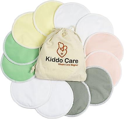 4X Organic Reusable Washable Breast Pads Feeding Cotton Nursing Breastfeeding UK