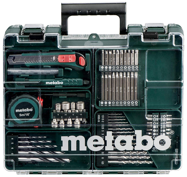 Metabo BS 14,4 SET Mobile Workshop 74 ACC Perceuse Simple /Électrique sans fil 14.4 volts//2 amps Mandrin Autoserrant