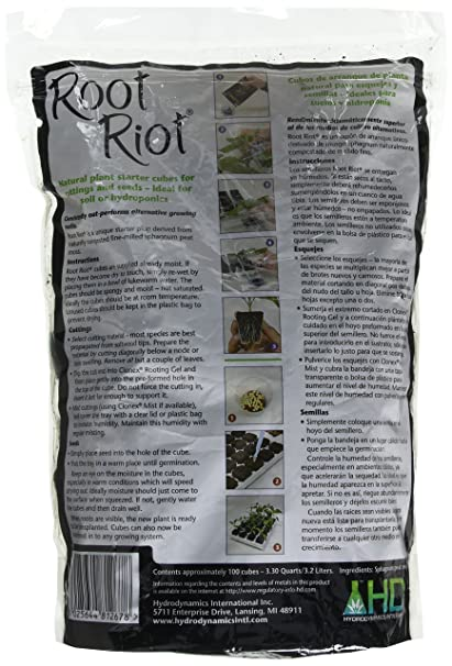 Amazon.com : Hydro Dynamics Root Riot Plugs, 100 Cubes : Soil And Soil Amendments : Garden & Outdoor