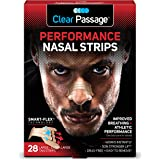 Clear Passage Performance Nasal Strips for Athletes, Tan, 28 Count | Instantly Improves Athletic Performance + Breathing, Rel