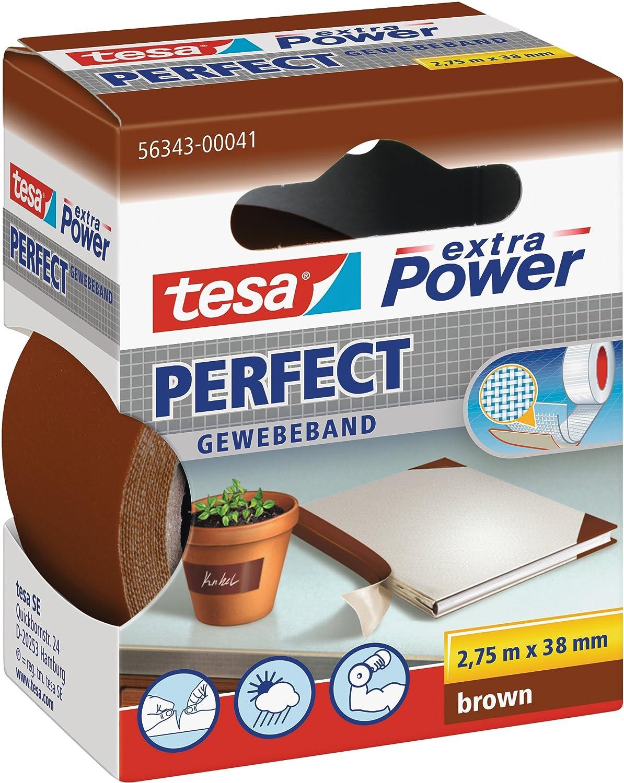 Tesa 56343 Extra Power Grigio Panno Nastro Adesivo, 38 mm x 2.75 m 38mm x 2.75m