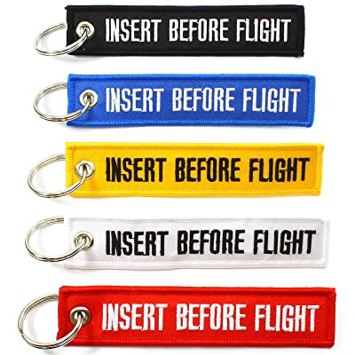 Rotary13B1 Insert Before Flight Key Chains - Multi Color - 5pcs: Automotive