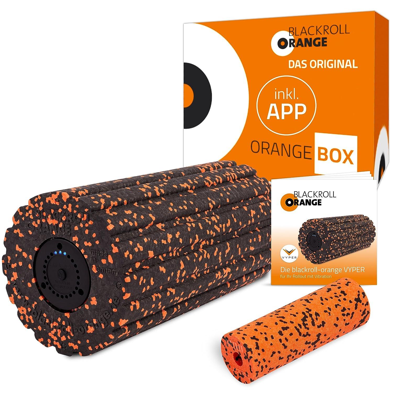 Schwarzroll Orange Box Vyper Faszienrolle, mit Vibration, inkl. Übungsbooklet