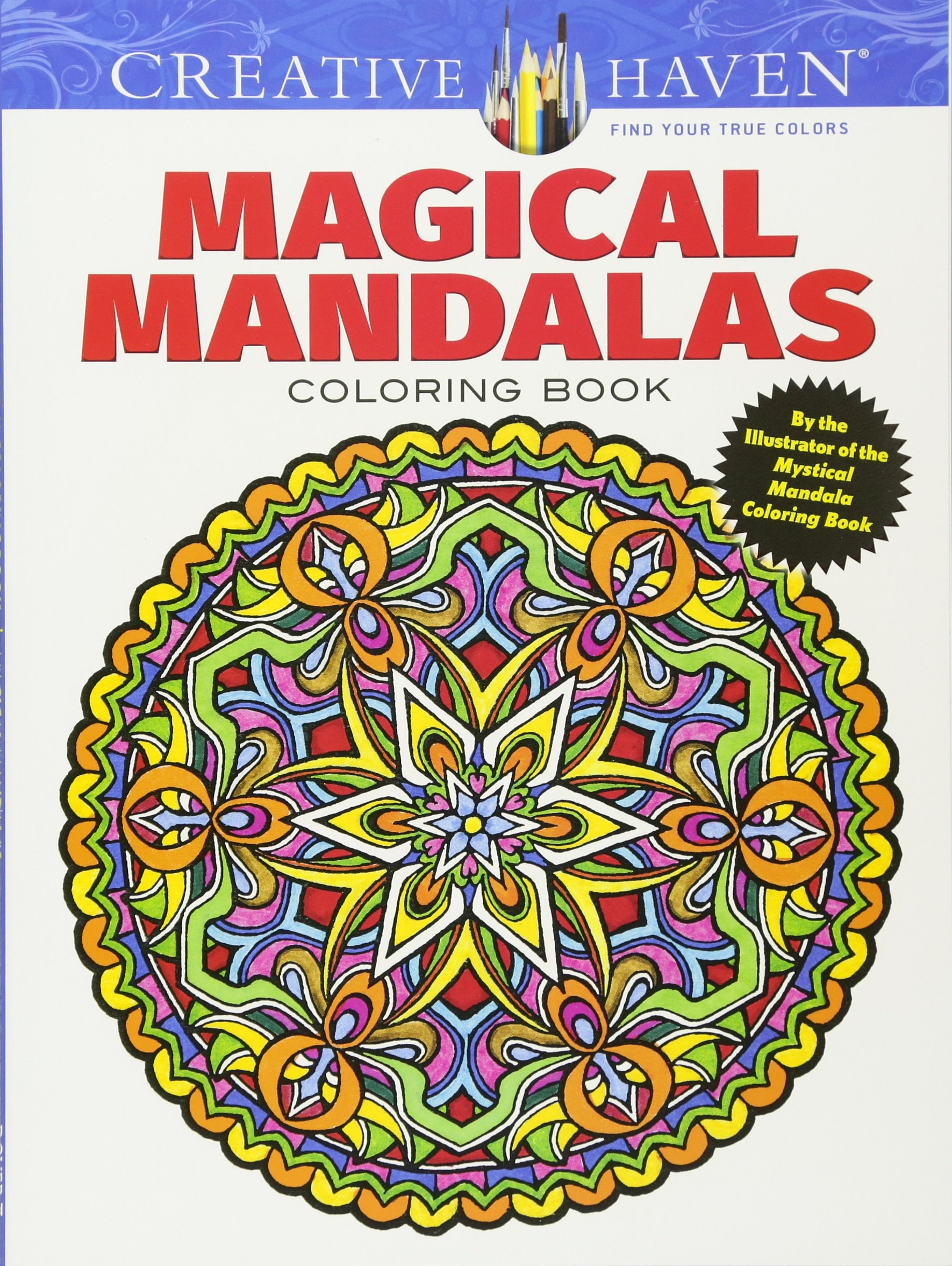 creative haven magical mandalas coloring book by the illustrator of the mystical mandala coloring book adult coloring alberta hutchinson