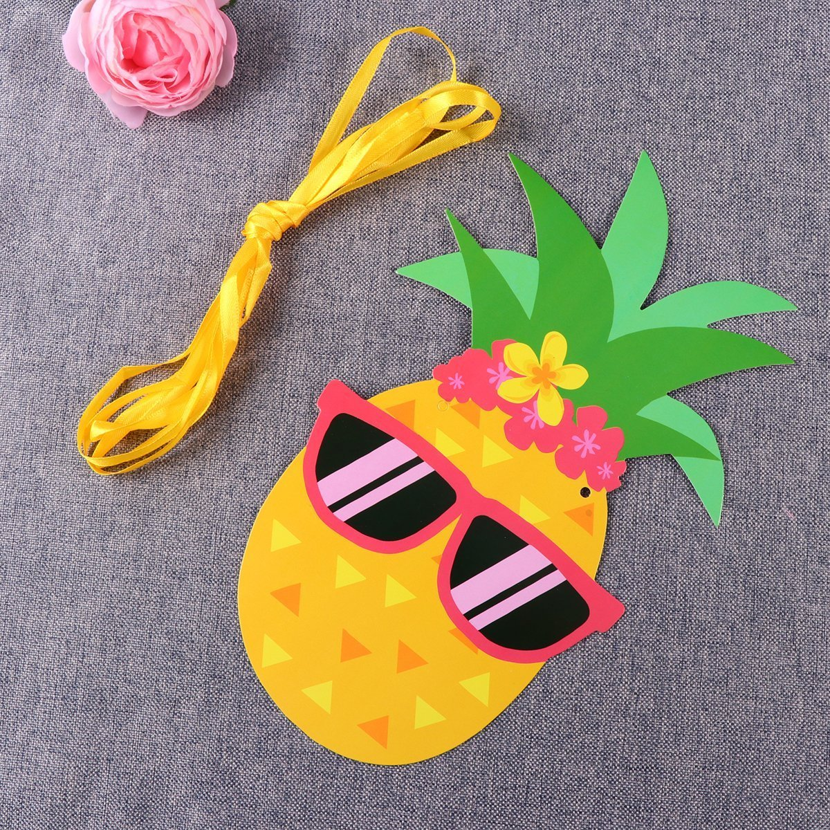 Pineapple Banner,Tropical Luau Theme Party Decorations Aloha Pineapple Banner Hawaiian Luau Colorful Summer Beach Tropical Party Supplies Photography Props Party Banner Home Wall Hibiscus Flowers Slipper Hanging (Hibiscus Flowers Slipper) CHengQiSM
