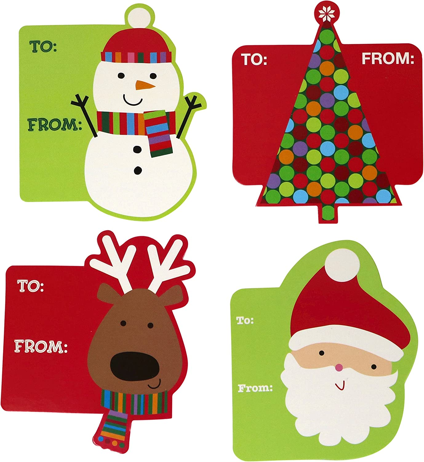 Garvin Peel and Stick Cardstock Christmas - Holiday Gift Tags - 72-Count: Health & Personal Care