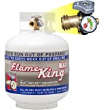 Flame King YSN230 Steel Propane Cylinder with Overflow Protection Device Valve and Built-in Gauge, 20-Pound