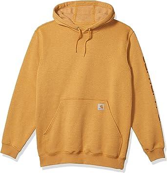 Regular and Big /& Tall S Carhartt Men/'s Midweight Sleeve Logo Hooded Sweatshirt