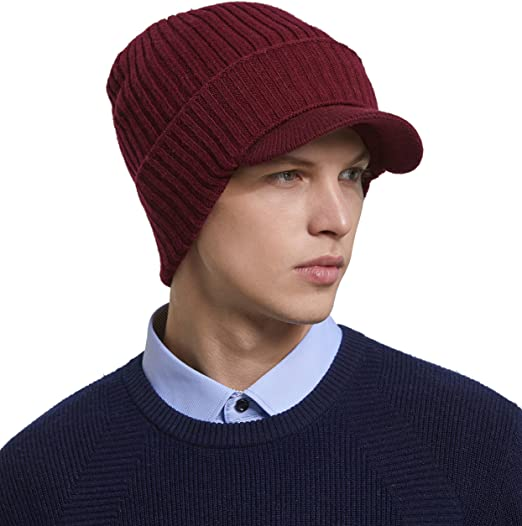 RIONA Mens 100/% Australian Merino Wool Beanie Hat Light Weight Warm Skull Caps Headwear