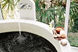 Black Bath Bomb with Silver Glitter - Large Bath