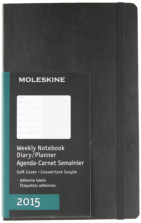 Amazon.com : Moleskine 2015 Weekly Planner, 12 Month, Large ...