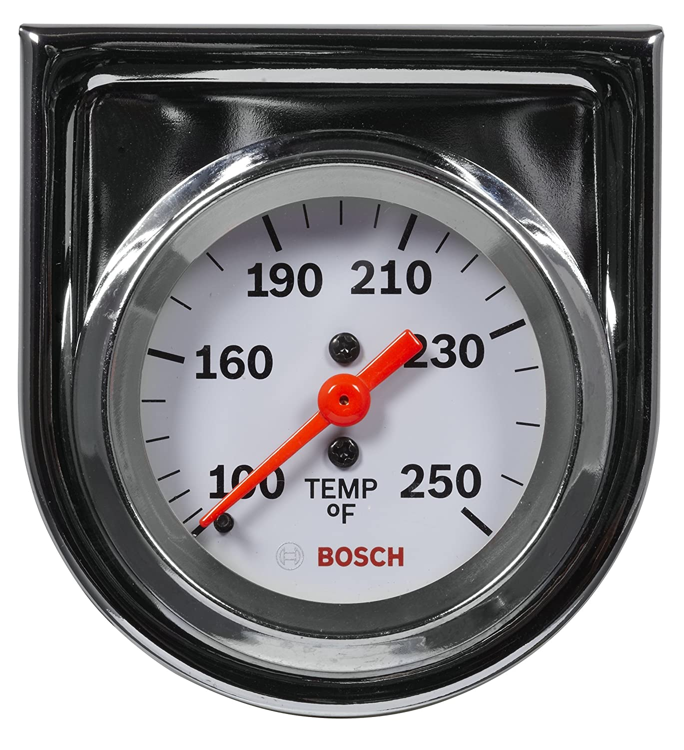 Bosch SP0F000045 Style Line 2' Mechanical Water/Oil Temperature Gauge (White Dial Face, Chrome Bezel)