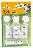 Kedudi Unsichtbare Kindersicherung Schranktür Schublade 6er-Pack Klebemontage Magnetschloss Schubladensicherung Türsicherung