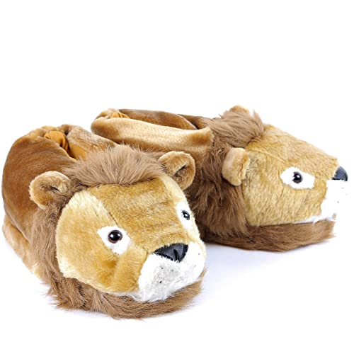 Sleeperz - León - Zapatillas de casa Animales Originales y Divertidas - Adultos y