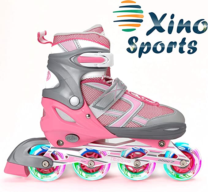 Best Inline Skates: XinoSports Adjustable Kids Inline Skates