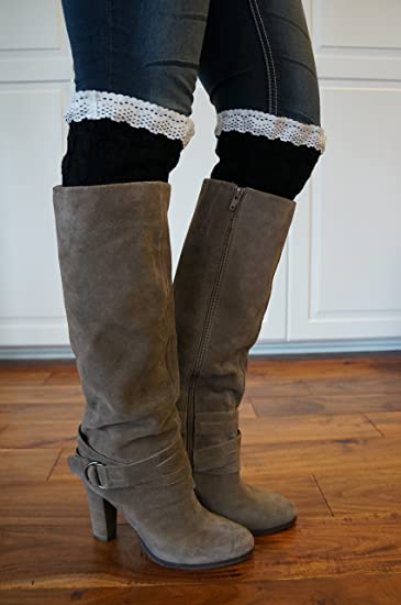 d52f9b306c Amazon.com: Boot Cuffs: Cable Knit and Lace Toppers for Boots, Boot ...