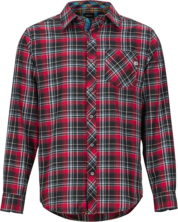 Marmot Needle Peak Midweight Flannel LS Men Breathable with UV Protection Long Sleeve Outdoor Shirt Hiking Shirt