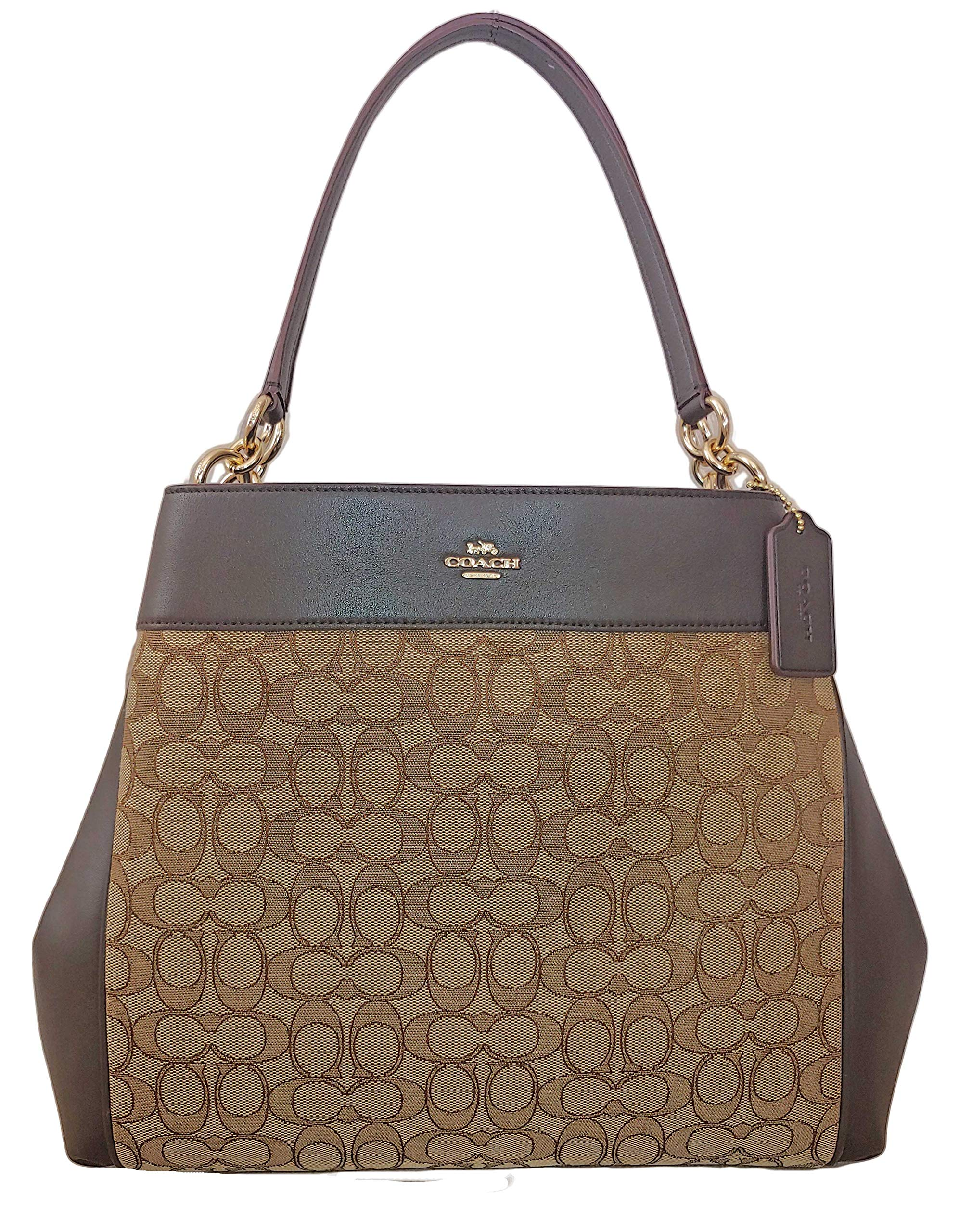 COACH LEXY SHOULDER BAG KHAKI/BROWN