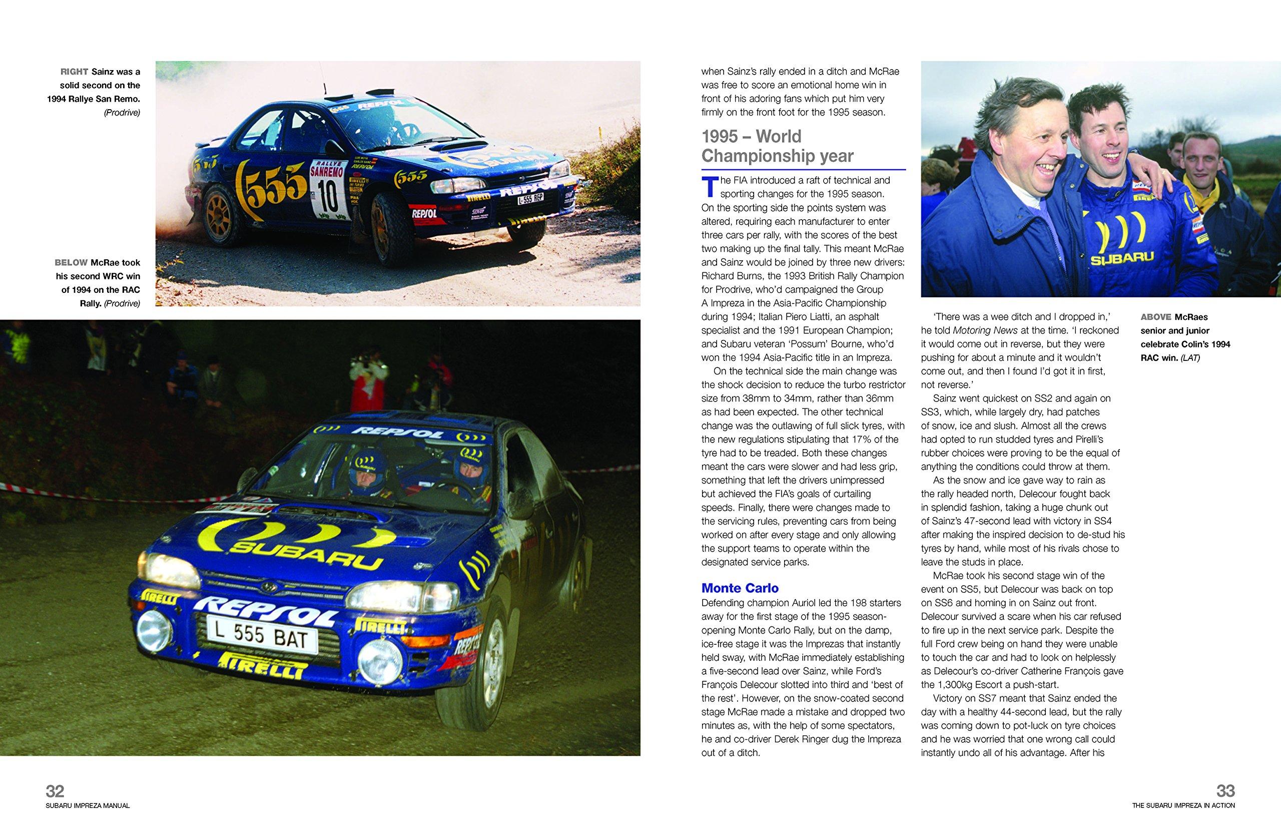 Subaru Impreza WRC Rally Car (Owners' Workshop Manual): Andrew van de  Burgt: 9781785211102: Amazon.com: Books